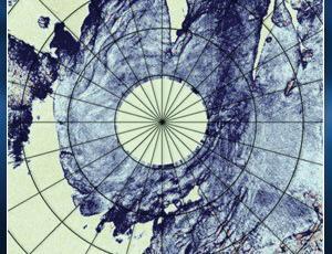 3-D image of a martian polar cap
