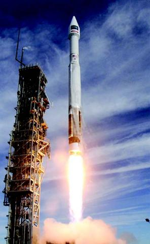 Photo of Atlas V rocket launching
