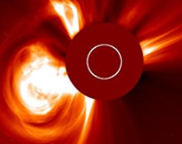 NASA/ESA SOHO image from LASCO C2 taken at 20:48 UT of the October 2014 CME