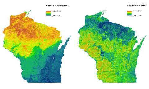 Wisconsin Satellite Map