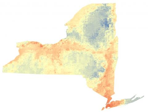 Color heat map