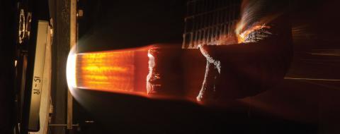 Photo of HEEET model arojet testing