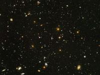 Photo of universe showing stars and galaxies