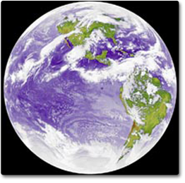 an infrared image of the Earth taken by the GOES 6 satellite