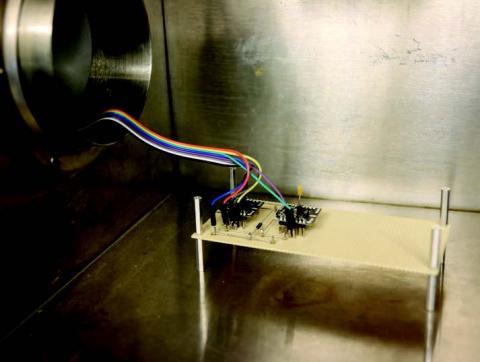 Photo of dual-sensor vacuum testing