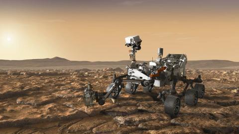 Artist depiction of Mars Rover 2020