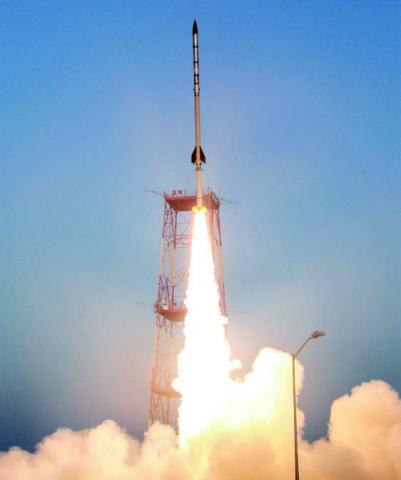 Photo of Black Brant IX Vehicle Launch