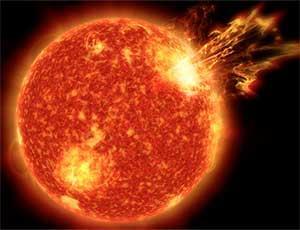 Sun with solar flare