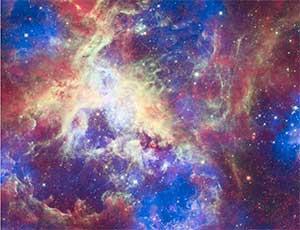 image of nebula in universe