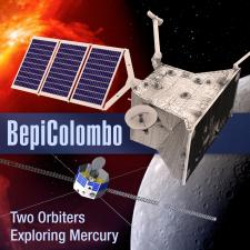 Illustration of BepiColumbo mission spacecraft