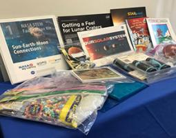 NASA-themed library kit displayed on a table
