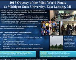 """Thumbnail of PowerPoint slide entitled """"2017 Odyssey of the Mind World Finals at Michigan State University, East Lansing, MI"""""""