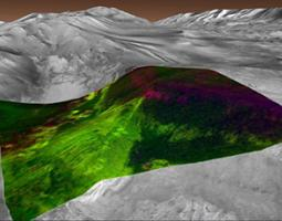 Artist's rendering of proposed Exploration Zone being considered for human landing site on Mars