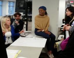 Participants applying role model strategies to real-work scenarios