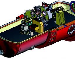 Cutaway illustration of HIRMES instrument