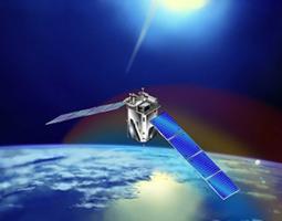 Artist's rendering of TIMED SABER mission satellite