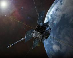 Artist's rendering of one Van Allen Probes satellite