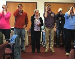 Public librarians from rural New York communities learn about the Martian environment and Mars exploration