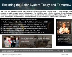 """Thumbnail of PowerPoint slide entitled """"Exploring the Solar System Today and Tomorrow"""""""