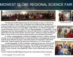 "Thumbnail of PowerPoint slide entitled ""MIDWEST GLOBE REGIONAL SCIENCE FAIR"""