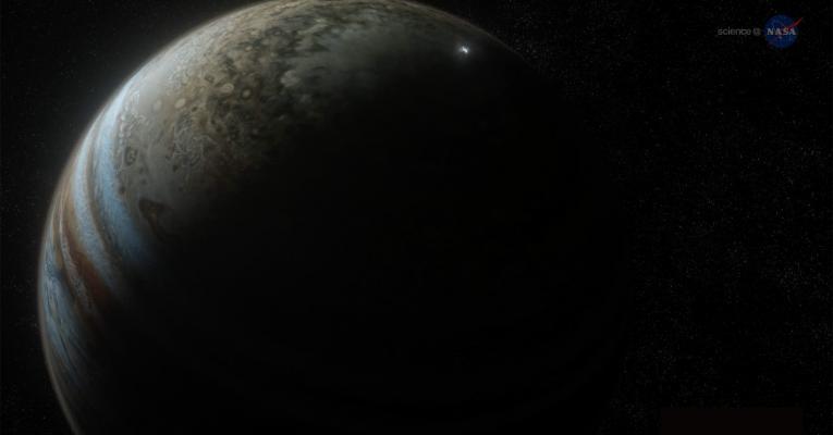 Lightning Across the Solar System Poster