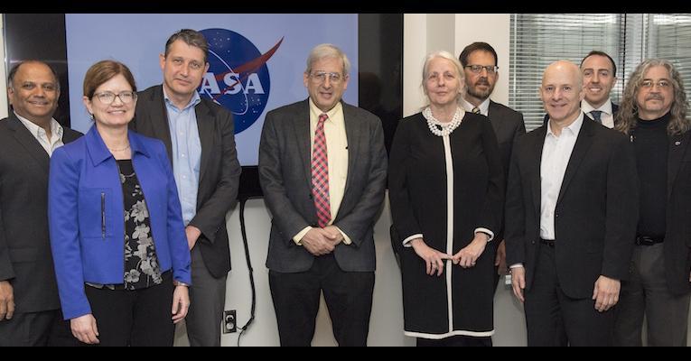Group photo of NASA and University of Twente groups