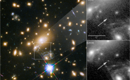 image of stars and galaxies with two insets