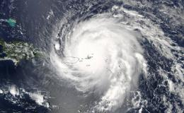 Satellite image of Hurrincane Irma
