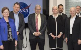 Group photo of NASA and University of Twente groups
