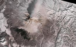 Photo of Shiveluch volcano