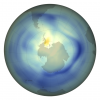 Ozone layer data over globe