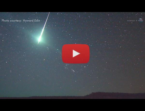 ScienceCasts: Geminid Meteors at Dawn
